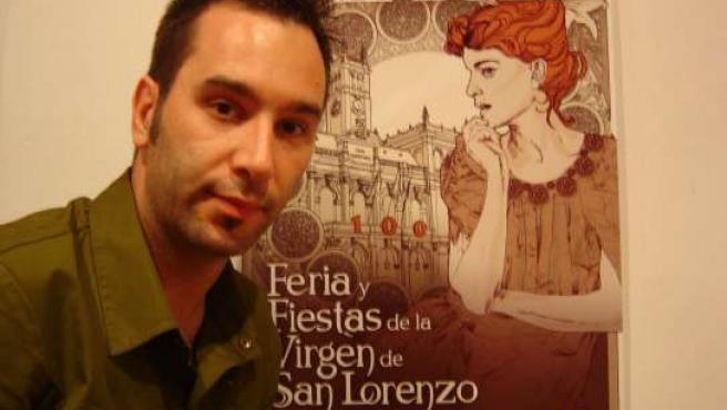 Óscar del Amo, creador del cartel de las fiestas de Valladolid.