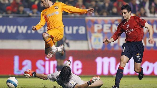 Giuly, en un partido con el Barcelona (EFE).