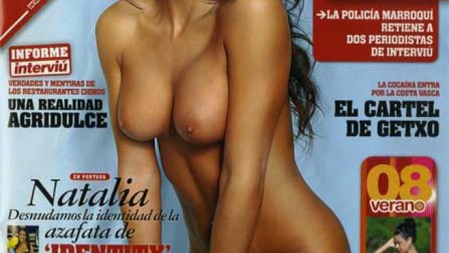 Natalia Vegas en la portada de 'Interviú'.