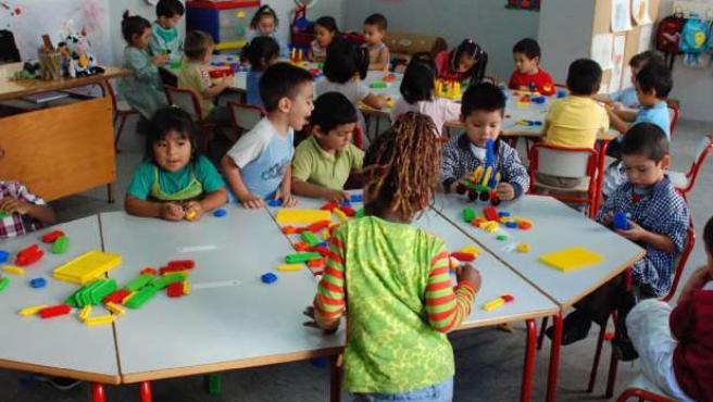 Alumnos de una escuela infantil. (ARCHIVO)