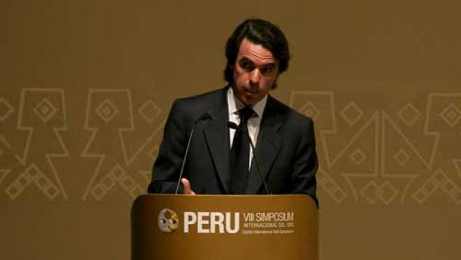 El ex presidente durante un discurso en Lima (Perú). (EFE)