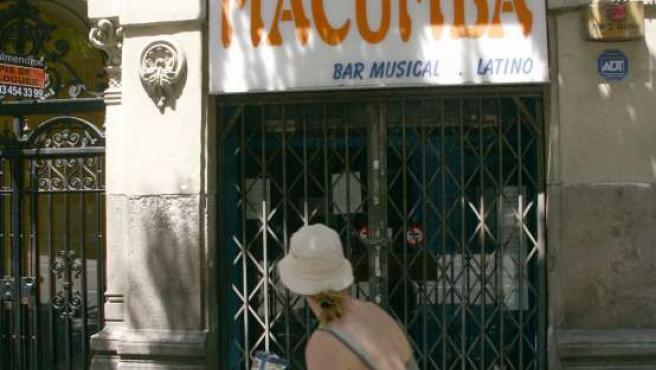 El bar Macumba de Barcelona, cuyo gerente ha sido condenado a una pena de 4 años de cárcel. (Foto: Albert Salamé / ACN).