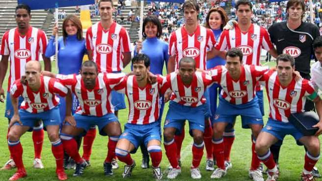 El Atlético de Madrid 2008/2009. (EFE)