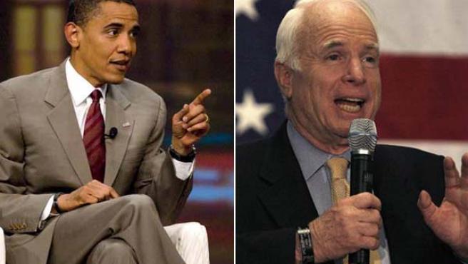 Obama y McCain, a 100 días de las elecciones. (EFE)