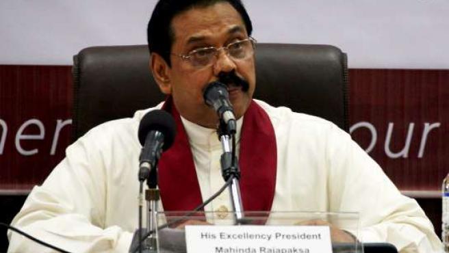 El presidente de Sri Lanka Mahinda Rajapaksa. (Foto: M.A. Pushpa Kumara).
