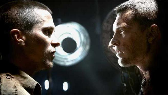 Christian Bale y Sam Worthington en 'Terminator Salvation'.