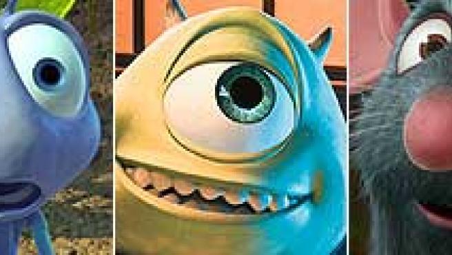 Algunos de los protagonistas de algunas de las películas de Pixar.