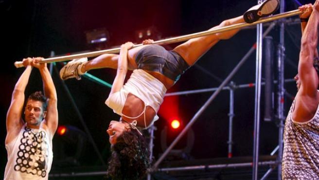 Los protagonistas del espectáculo 'Fama, ¡a bailar!'.