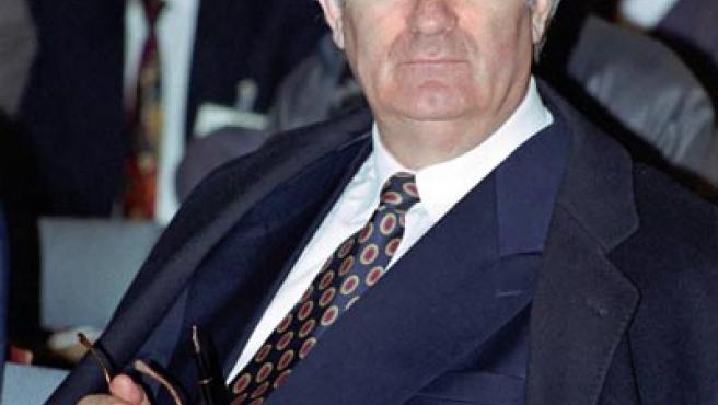 Radovan Karadzic en una fotografía de archivo de 1995. (REUTERS)