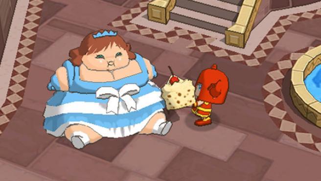En el videojuego 'Fat Princess' hay que engordar a la princesa.