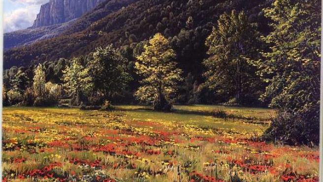 Pintura del paisaje pirenaico(ARCHIVO)