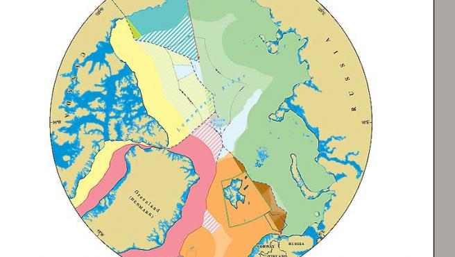 Unos científicos de la Universidad de Durham han elaborado el primer mapa del Ártico. (Universidad de Durham).
