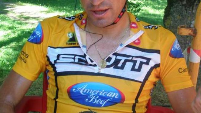 Juanjo Cobo, con los colores del nuevo Scott-American Beef, sustituto del Saunier Duval (AGENCIAS).
