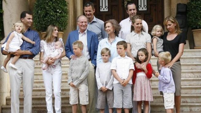 La Familia Real realiza cada año este posado tradicional