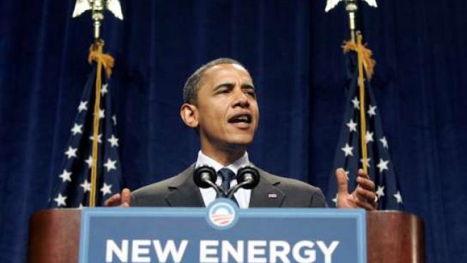 Barack Obama durante su discurso en Lansing, Michigan (EE UU). (Foto: Rebecca Cook / REUTERS).