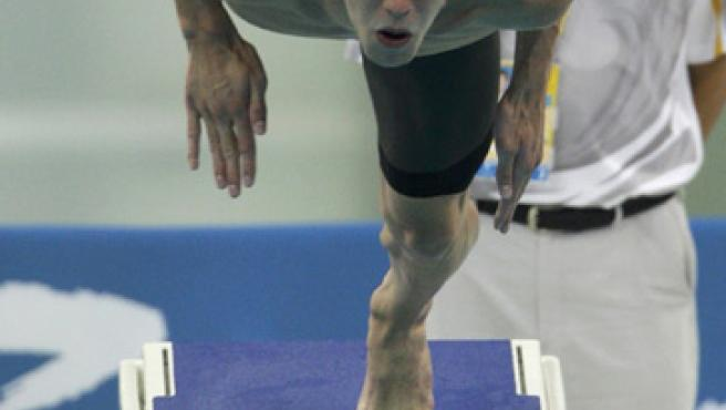 Michael Phelps, en acción en Pekín. (REUTERS)