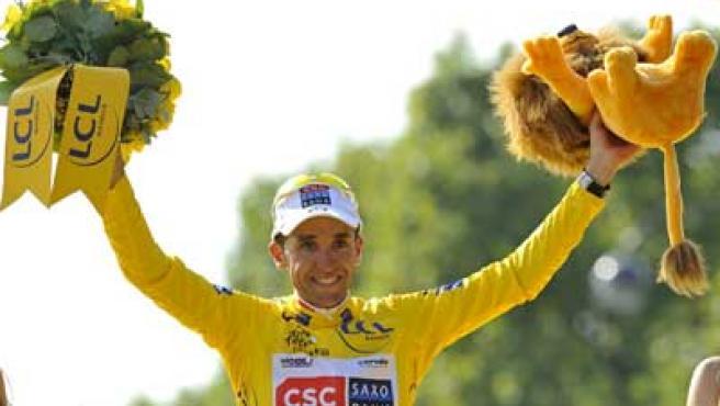 Carlos Sastre, vencedor del Tour de Francia.