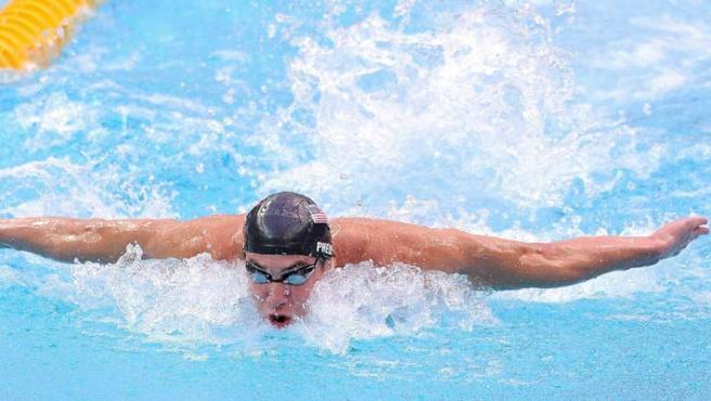 Phelps, durante una prueba. Archivo.