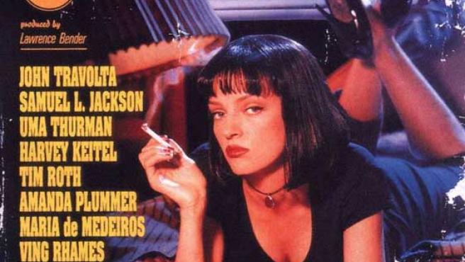 Uma Thurman, en el cartel de 'Pulp fiction'.