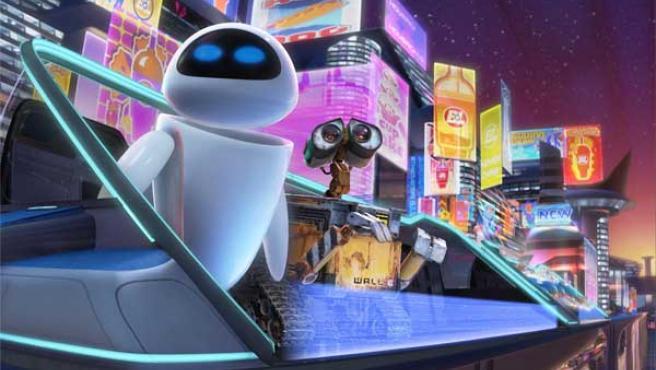 Eve y Wall-E, protagonistas de la última cinta de Pixar.