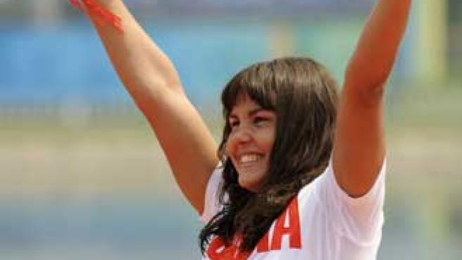 Larisa Ilchenko, victoriosa (Agencias).