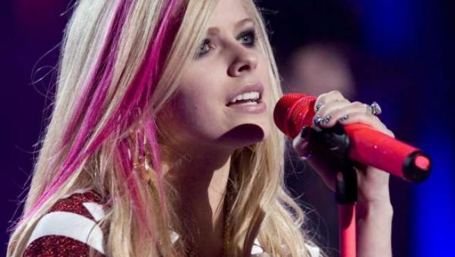 Avril Lavigne, durante un concierto.