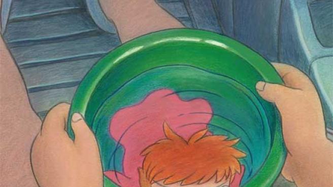 Imagen de 'Ponyo en el acantilado', de Hayao Miyazaki.