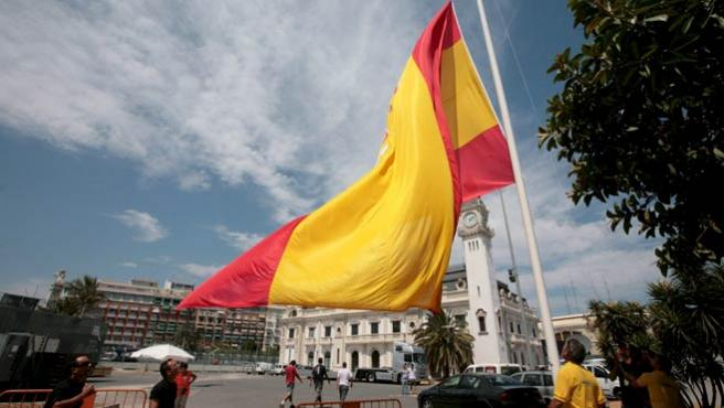 Una imagen de la bandera de España. (EFE)