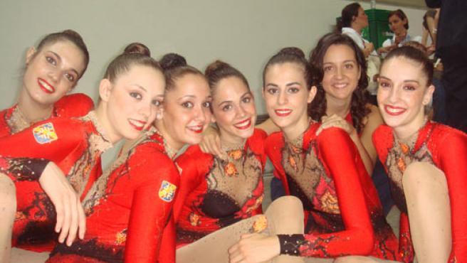 El equipo de gimnasia rítmica de España. (AGENCIAS)