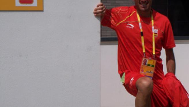 Una imagen de Chema Martínez en la Villa Olímpica.