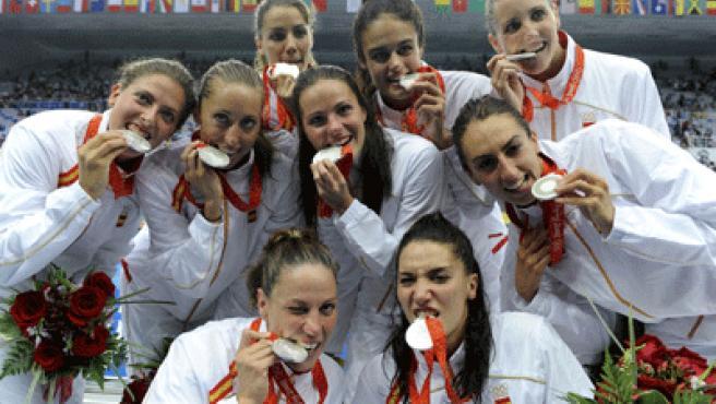 La sincro española, con su medalla