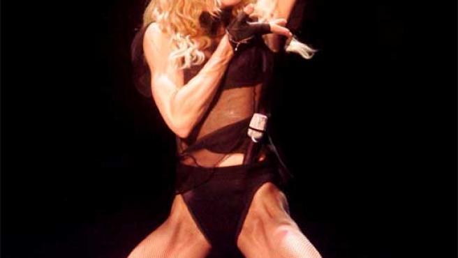Madonna, durante el concierto en Cardiff (Gales).