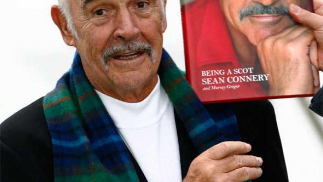 El actor Sean Connery, en la presentación de su autobiografía.