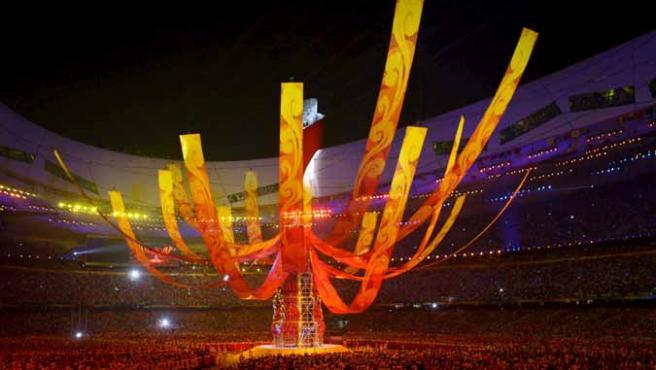 Imagen de la clausura de los Juegos Olímpicos de Pekín.