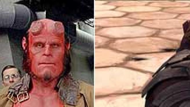 Imágenes de 'Hellboy II' y 'The Clone Wars'.