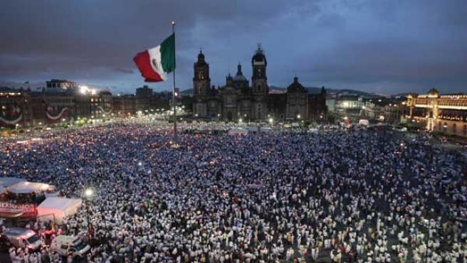 Marcha por la paz en México. (RTRPIX)