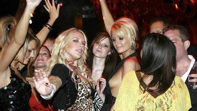 Paris Hilton, en una fiesta en Las Vegas.