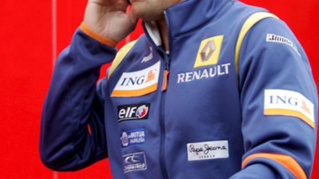 Alonso, durante el GP de Bélgica (Agencias).