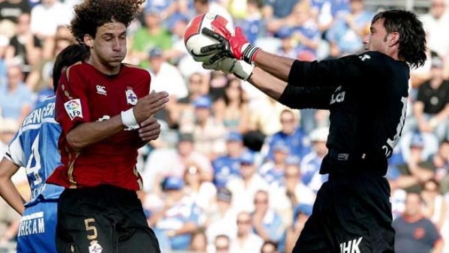 Abbondanzieri, en un partido de Liga con el Getafe. Archivo. (EFE)