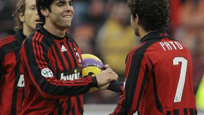 Kaká, en un partido con el Milan (Reuters).