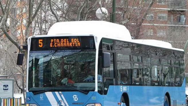 Autobús urbano de la EMT en Madrid. (ARCHIVO)