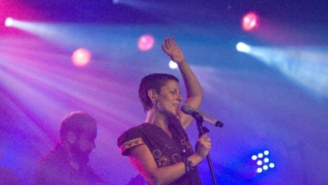 La Mari, del grupo Chambao, durante su última gira.