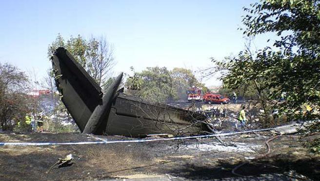 Imagen del avión siniestrado. (ARCHIVO)