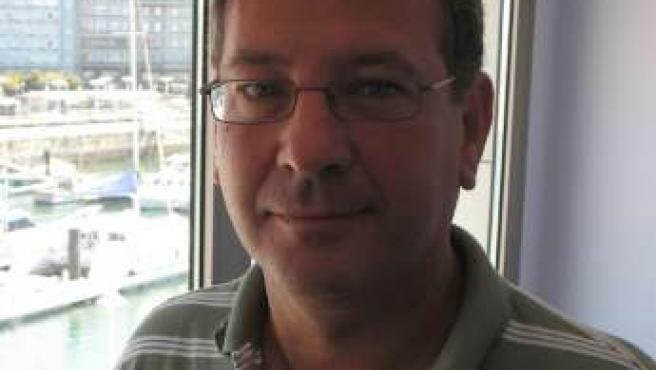 Juan Carlos Menéndez, en su despacho en Talasoponiente.