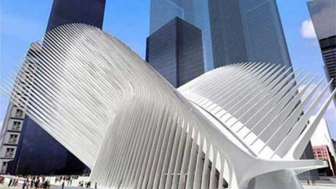 Recreación de la terminal de transportes diseñada por Calatrava para Nueva York.
