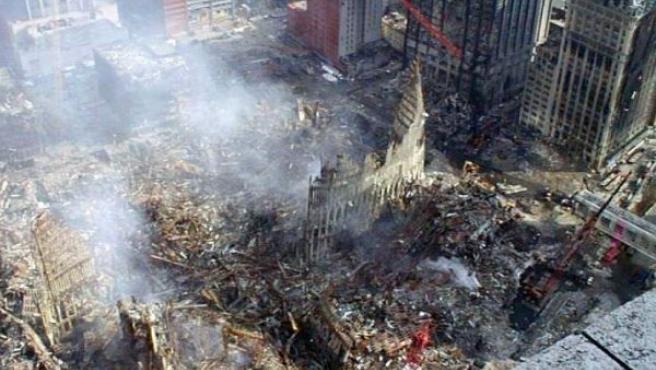 El atentado convirtió en escombros el World Trade Center.