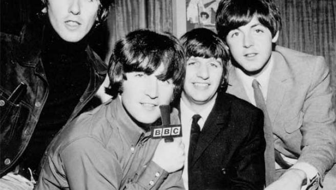 Los Beatles: George Harrison, John Lennon, Ringo Starr y Paul McCartney.