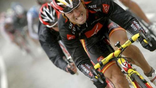 Alejandro Valverde, durante una etapa de la Vuelta a España 2008 (EFE)