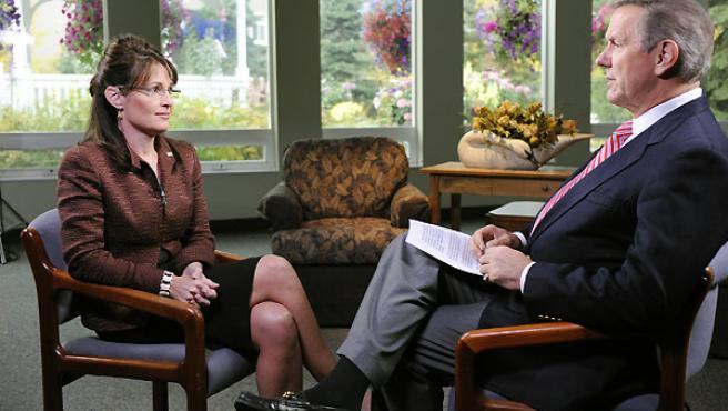 Sarah Palin, durante la entrevista en la cadena ABC.