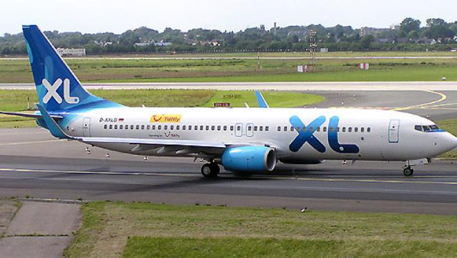 Uno de los aviones de la aerolínea británica XL. (Wikipedia)